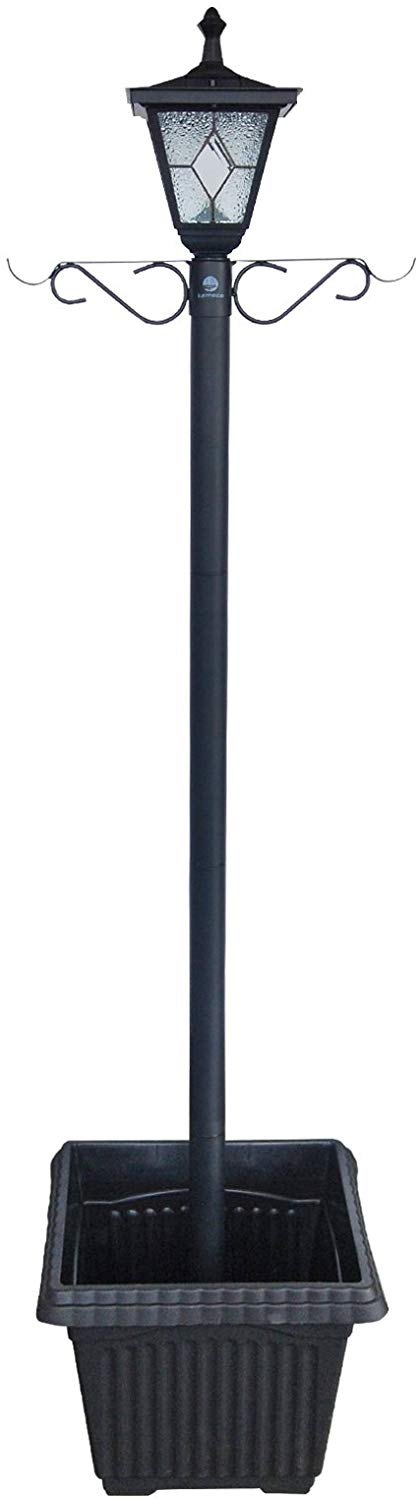 The Kemeco solar lamp post stands tall and looks great in any garden