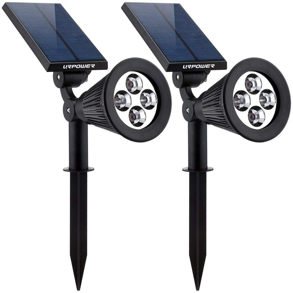 Urpower 2 in 1 LED spotlights are solar powered.